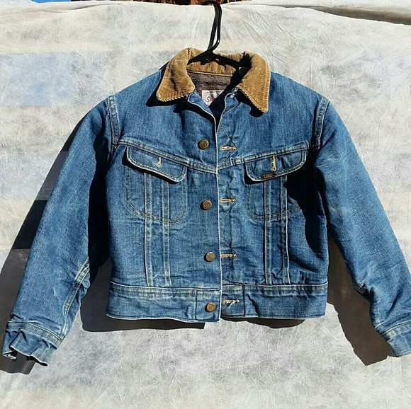 Clothing, Shoes & Accessories Vintage Lee Storm Rider Denim Jacket With Wool Lining Approx Size Medium Men's Clothing